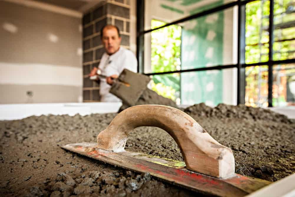 Concrete Bench Progress, Hawthorn - South Australia