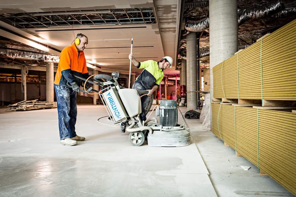 Progress of Terrazzo Floor Creation - Westfield Mall at Westlakes, South Australia.